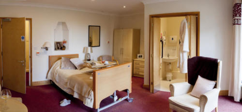 Ashridge Court Care Centre bedroom with en-suite